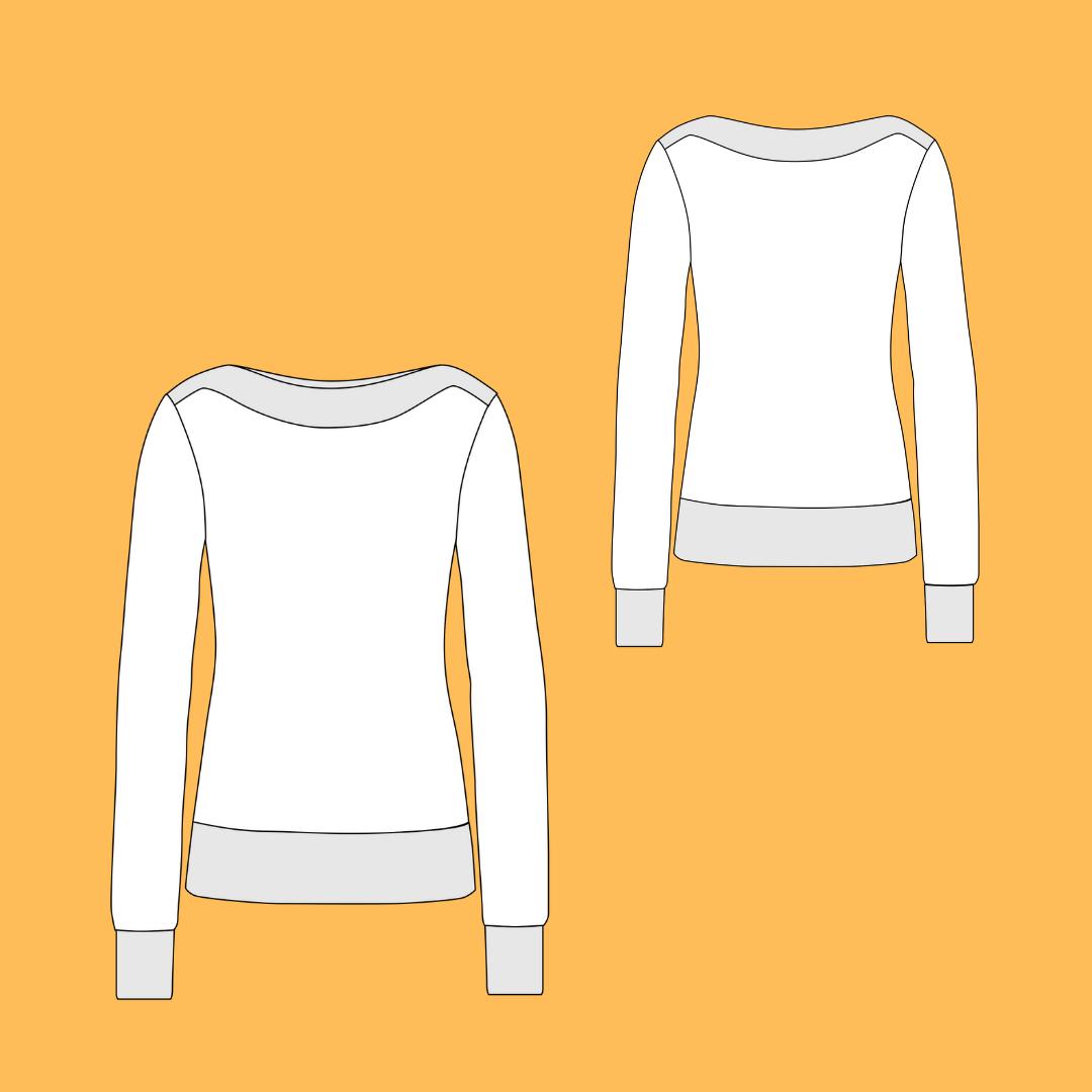 Technische Zeichnung Pullover Bettina