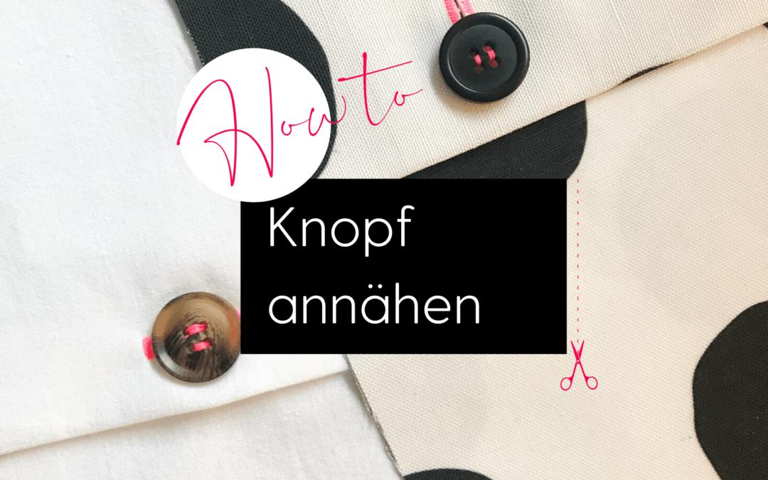 Knopf annähen